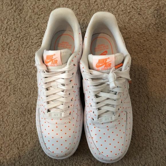 White And Orange Polka Dot Air Force